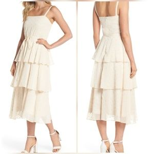 Gal Meets Glam Dresses - Florence Chiffon Embroidered Tiered A-Line Dress 8
